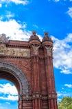 Details of the Arch de Triumph in Barcelona. `s Ciutadella Park Stock Photography