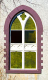 Details on an arched church window Royalty Free Stock Photography