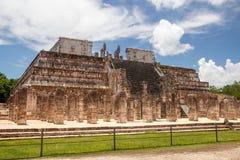 Details am Archelogical-Standort von Chicen Itza, Mexiko Lizenzfreie Stockbilder