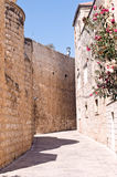 Details of architecture . Streets of the Old City of Jerusalem . Israel royalty free stock photography