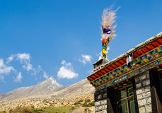 Details of the architecture of the building in Tibet Royalty Free Stock Image