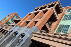 Downtown building of brick and stone Royalty Free Stock Photo