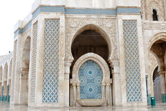 Details architecture King Hassan II Mosque, Casablanca Royalty Free Stock Photos