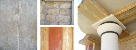 Details architecture of Knossos Stock Photography
