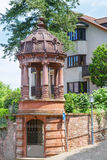 Details of the architecture of the old town of Heidelberg. Royalty Free Stock Photos