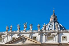 Saint Peter`s Square, Vatican, Rome, Italy Royalty Free Stock Photo