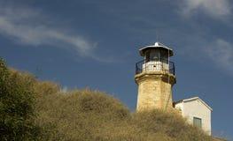 Details Architektur der im Freien eines alten Leuchtturmes von Zypern Lizenzfreie Stockfotos