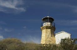 Details Architektur der im Freien eines alten Leuchtturmes von Zypern Lizenzfreies Stockfoto