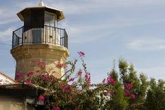 Details Architektur der im Freien eines alten Leuchtturmes von Zypern Stockfoto