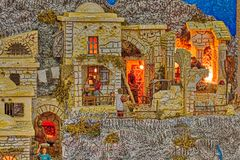 Details of Christmas Nativity scene stock image