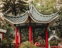 DETAILS AUSSERHALB DES PARKS IN HONG KONG CHINA Stockfoto