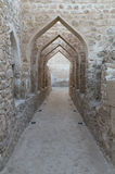 Details of Bahraini fort. Arabic traditional motives in Bahrain fort Royalty Free Stock Photos