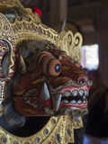The details of Barong, symbol of truth in Bali, Indonesia. Close up shot showing details of Barong mask, symbol of truth in Bali, Indonesia Royalty Free Stock Images
