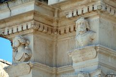 Details of the baroque that can be admired in the city of Lecce in Apulia, Italy. Details of the baroque that can be admired in the city of Lecce in Apulia stock photo