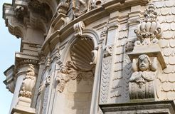 Details of the baroque that can be admired in the city of Lecce in Apulia, Italy. Details of the baroque that can be admired in the city of Lecce in Apulia stock photos