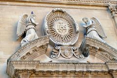 Details of the baroque that can be admired in the city of Lecce in Apulia, Italy. Details of the baroque that can be admired in the city of Lecce in Apulia stock images