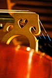 Details of a Bass Bridge and Strings Stock Images