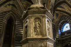 Details of the battistero di san Giovanni, Siena, Italy Stock Images