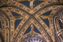 Details of the battistero di san Giovanni, Siena, Italy Royalty Free Stock Photos