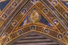 Details of the battistero di san Giovanni, Siena, Italy Stock Photo