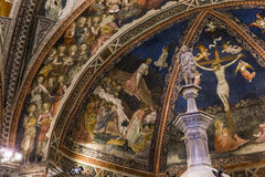 Details of the battistero di san Giovanni, Siena, Italy Stock Photos