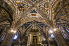 Details of the battistero di san Giovanni, Siena, Italy Stock Photography