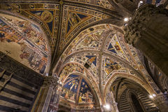 Details of the battistero di san Giovanni, Siena, Italy Royalty Free Stock Image