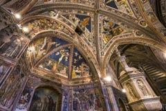 Details of the battistero di san Giovanni, Siena, Italy Stock Photography