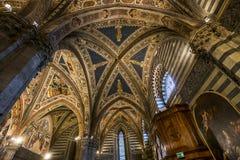 Details of the battistero di san Giovanni, Siena, Italy Royalty Free Stock Image