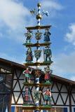Details of Bavarian Maibaum on Oktoberfest Stock Photos