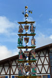 Details of Bavarian Maibaum on Oktoberfest royalty free stock photos
