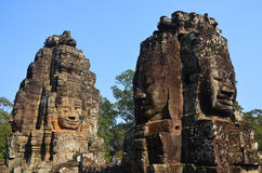 Details of the Bayon Royalty Free Stock Photography