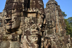 Details of the Bayon Royalty Free Stock Photo