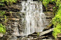 Details of beautiful waterfall stock photography