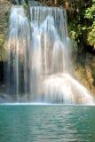 Details of beautiful waterfall, Erawan waterfall is famous water royalty free stock photo