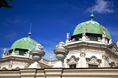 Details of Belvedere Palace.Vienna Royalty Free Stock Photo