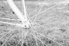 Details of bicycle wheel Stock Photo