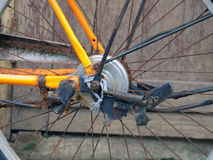 Details of bicycle wheel Royalty Free Stock Photography