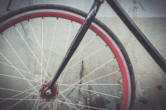 Details bike with vintage tone Royalty Free Stock Photography