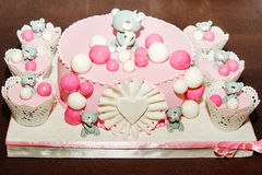 Details of a birthday cake Stock Image