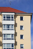 Block of flats. Details of a block of flats royalty free stock photo