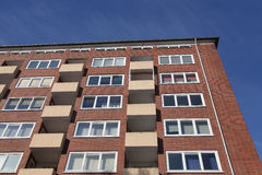 Block of flats. Details of a block of flats royalty free stock images
