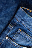 Details from blue jeans Royalty Free Stock Image