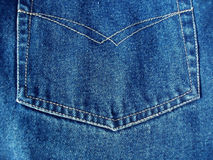 Details from blue jeans Royalty Free Stock Photography