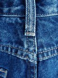 Details from blue jeans Royalty Free Stock Photos