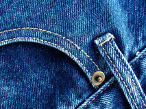 Details from blue jeans Royalty Free Stock Images