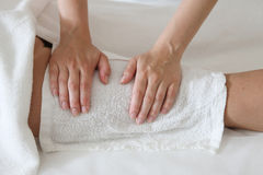 Details of body massage in spa salon Royalty Free Stock Photo
