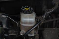 Details of a brake fluid reservoir Royalty Free Stock Image