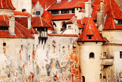 Details of the Bran Castle. Details of Bran Castle, the legendary home of Dracula Royalty Free Stock Photo
