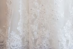 Details of the bride dress wedding Royalty Free Stock Photography